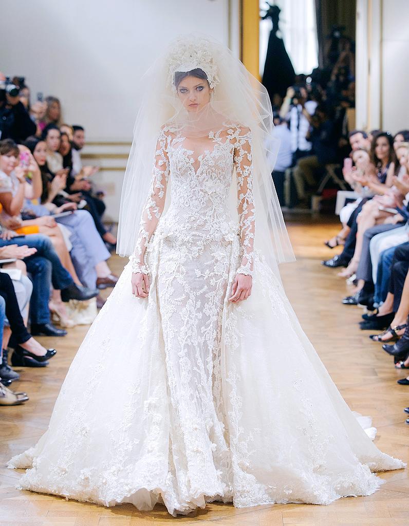 Zuhair murad haute couture nos 15 mari es pr f r es elle for Prix de robe de mariage en or georges chakra