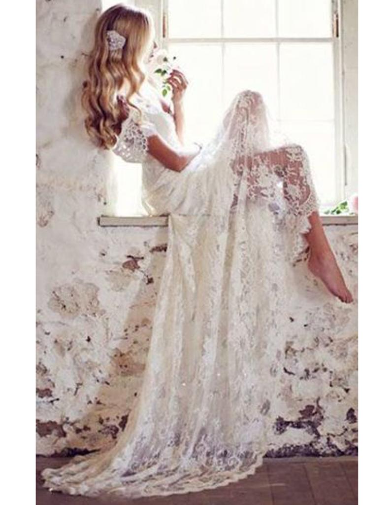 Robe de mariée dentelle transparente