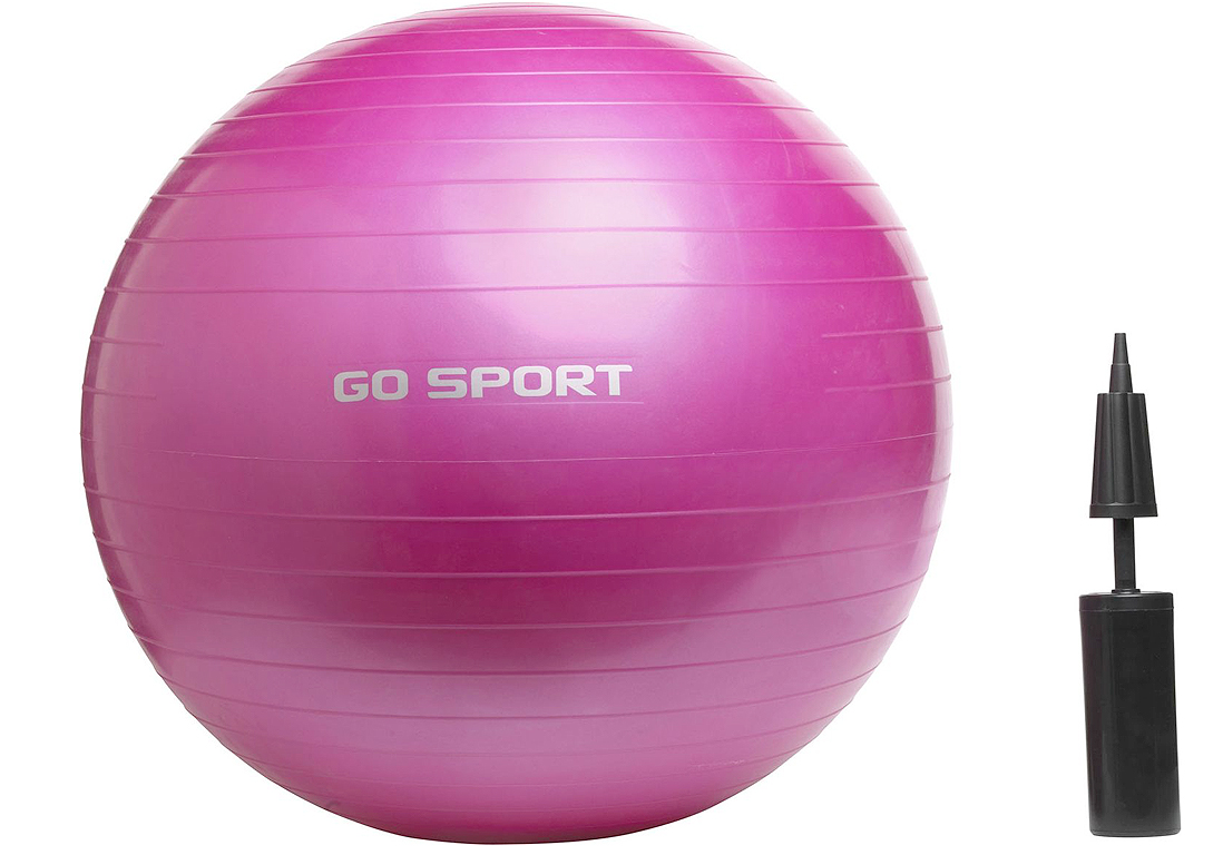 ballon de gymnastique rose fitness on s affine la. Black Bedroom Furniture Sets. Home Design Ideas