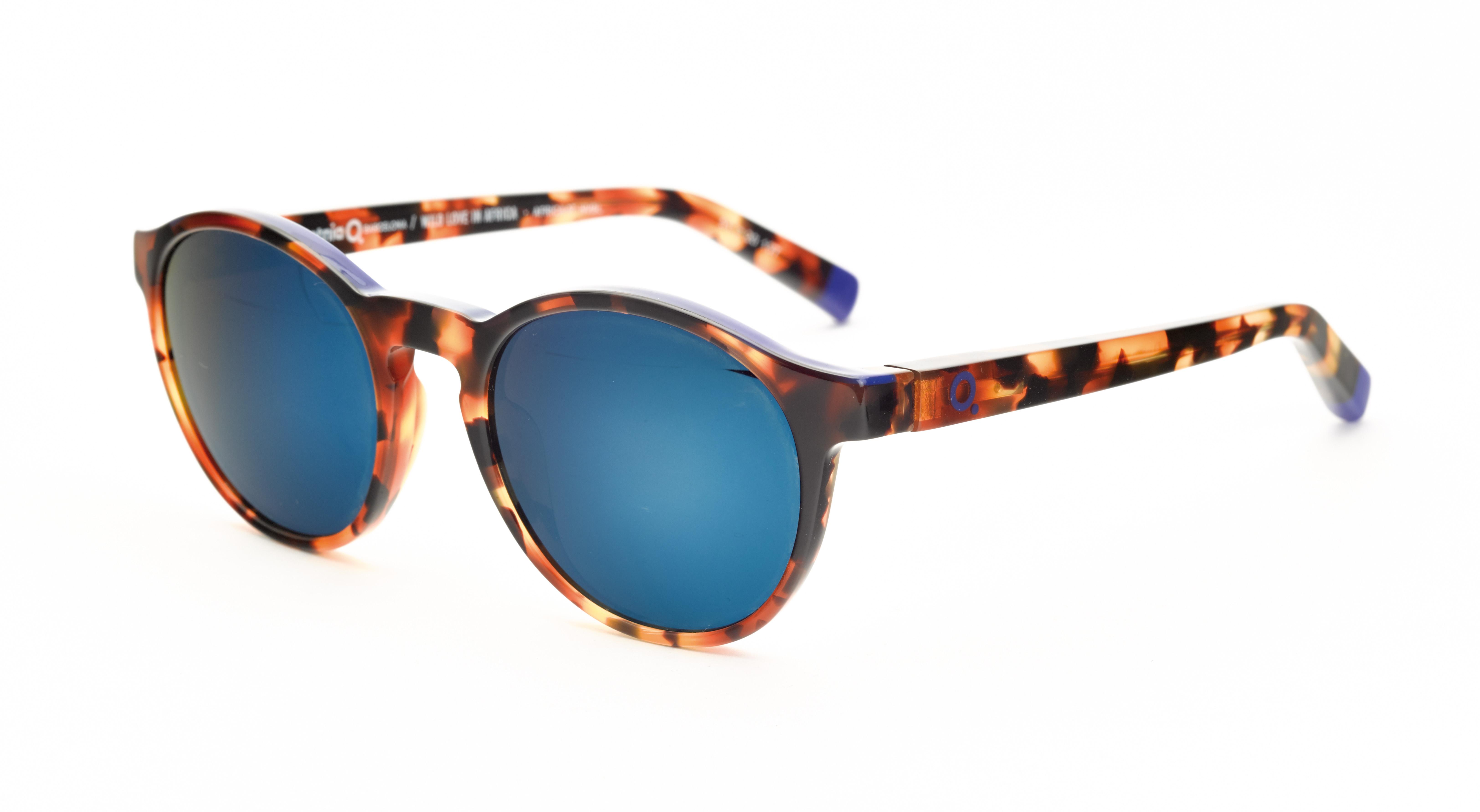 Lunettes de soleil avec verres miroir etnia barcelona 20 for Lunette soleil verre bleu miroir