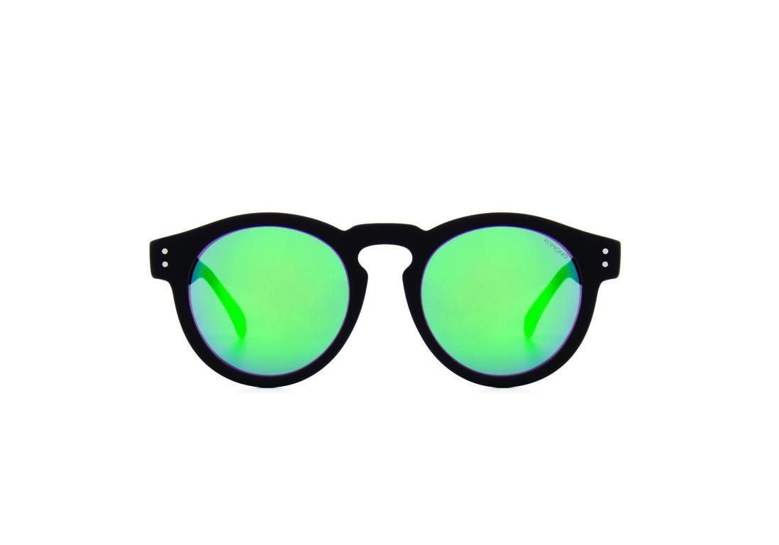 Lunettes de soleil miroir vert komono 20 lunettes de - Miroir en forme de lunette ...