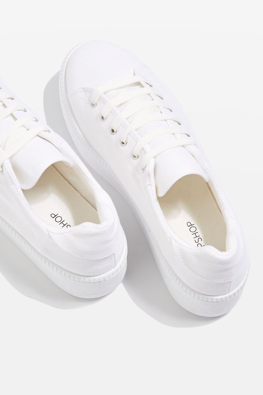 baskets blanches topshop trouver basket blanche son pied elle. Black Bedroom Furniture Sets. Home Design Ideas