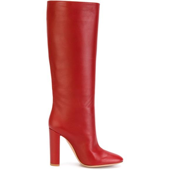 bottes rouges talons hauts gianvito rossi bottez en rouge elle. Black Bedroom Furniture Sets. Home Design Ideas