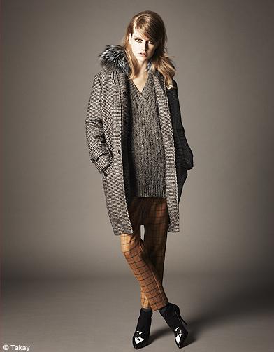 Mode tendance look imprimes carreaux p125 tendance - Mode carreaux ...
