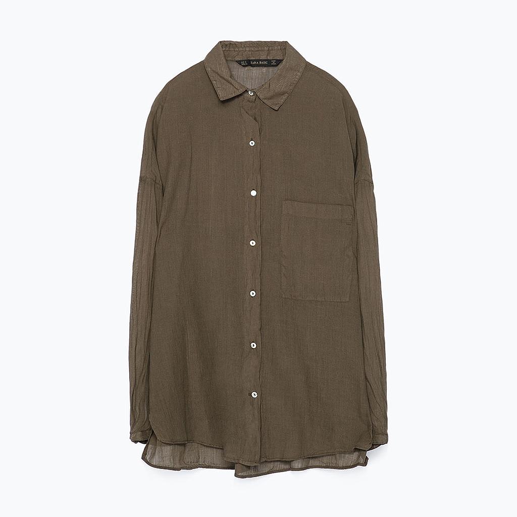 chemise zara une chemise d homme pour l t oui madame elle. Black Bedroom Furniture Sets. Home Design Ideas
