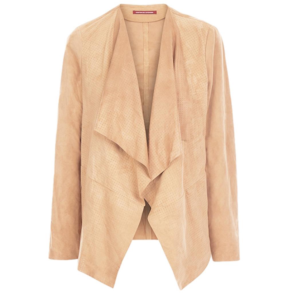 Manteau comptoir des cotonniers on est dingues du daim elle - Comptoir des cordonniers ...