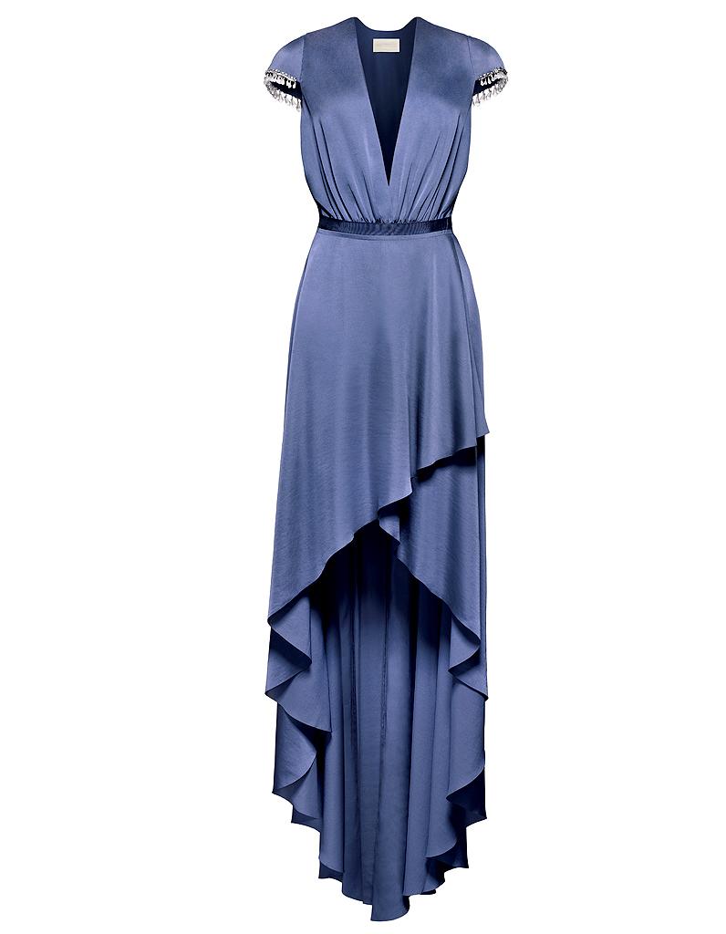 robe longue h m conscious h m conscious 14 tenues de soir e coresponsables elle. Black Bedroom Furniture Sets. Home Design Ideas