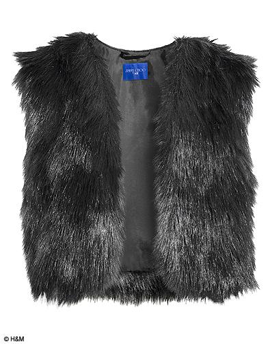 La robe en cuir noir asym trique jimmy choo pour h m les pi ces shopper elle - Gilet fausse fourrure noir ...