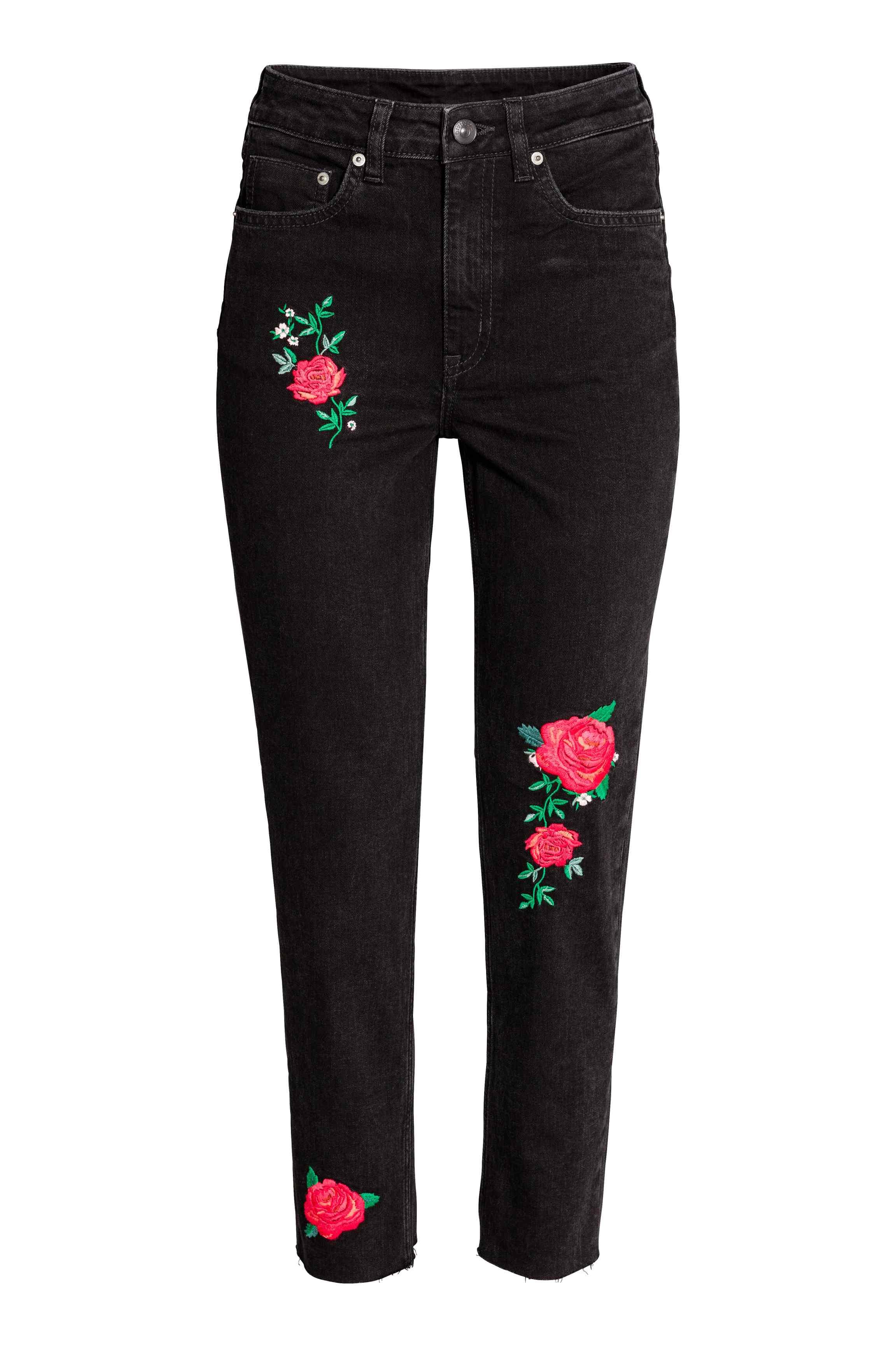 jean brod romantique h m 25 jeans brod s qui nous font de l il elle. Black Bedroom Furniture Sets. Home Design Ideas