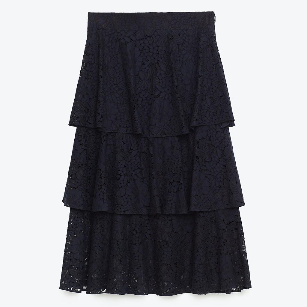 jupe taille haute volants 23 jupes taille haute pour. Black Bedroom Furniture Sets. Home Design Ideas