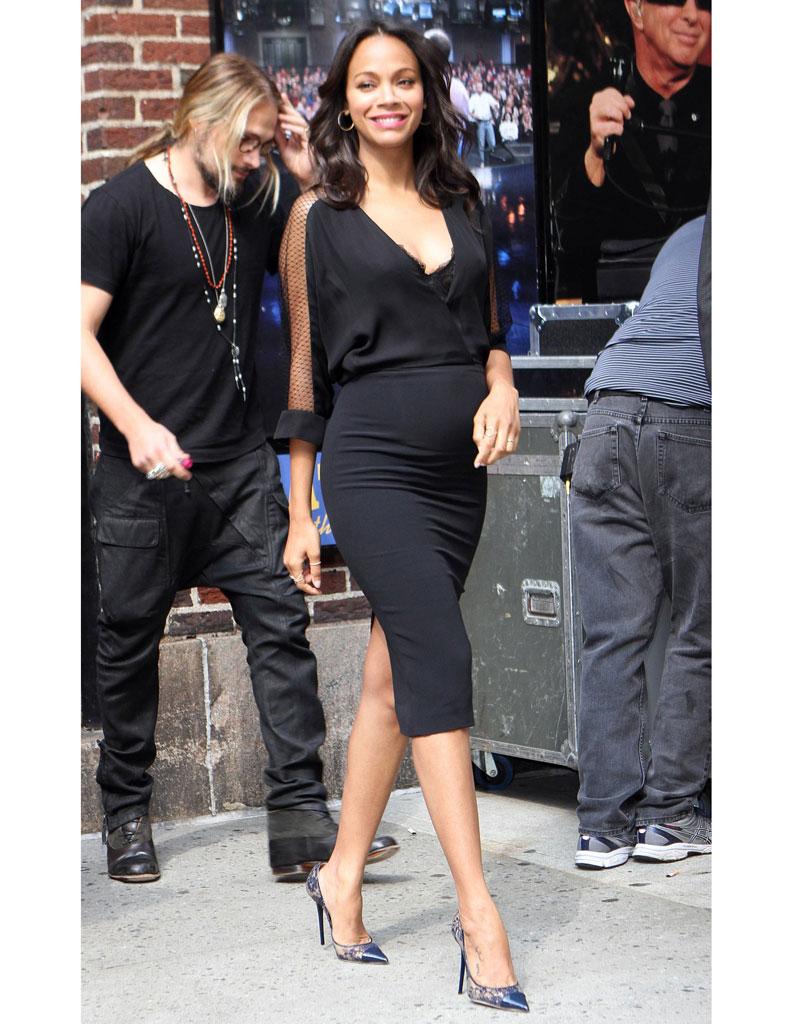 Robe noire pour femme enceinte