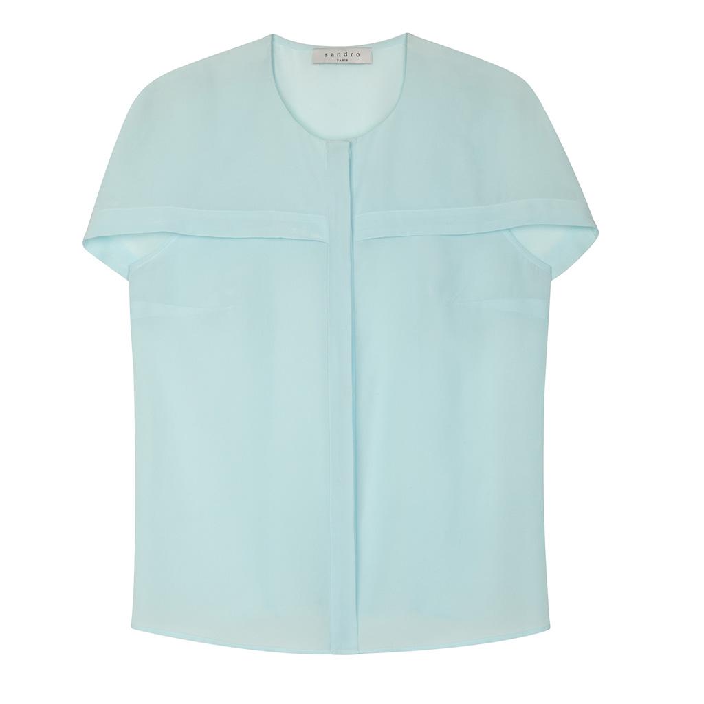 chemise sandro soldes hiver 2015 50 articles moins de 100 euros elle. Black Bedroom Furniture Sets. Home Design Ideas