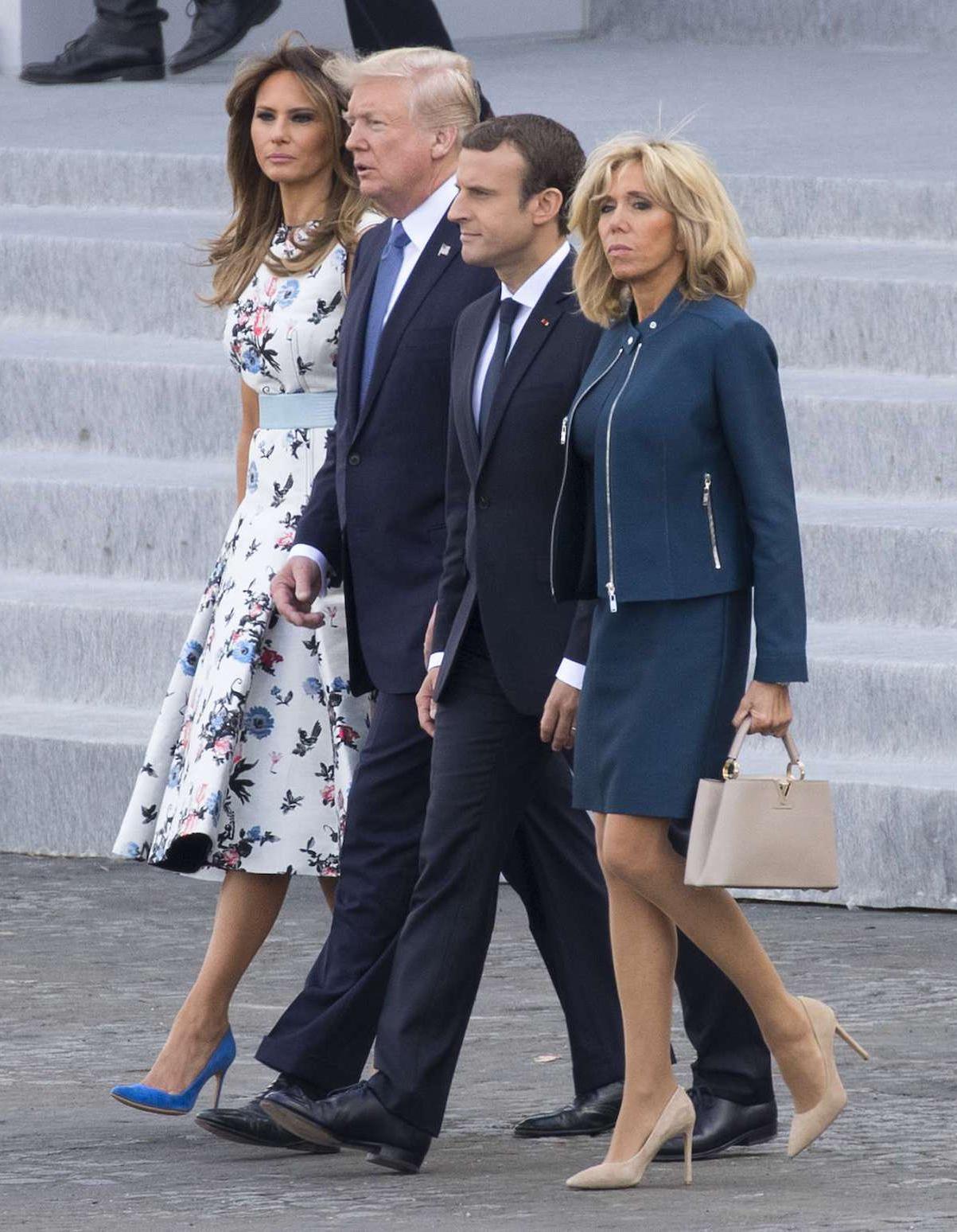Brigitte Macron et Melania Trump : un duo chic pour le 14 juillet