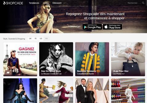 la plateforme de shopping en ligne shopcade arrive en france elle. Black Bedroom Furniture Sets. Home Design Ideas