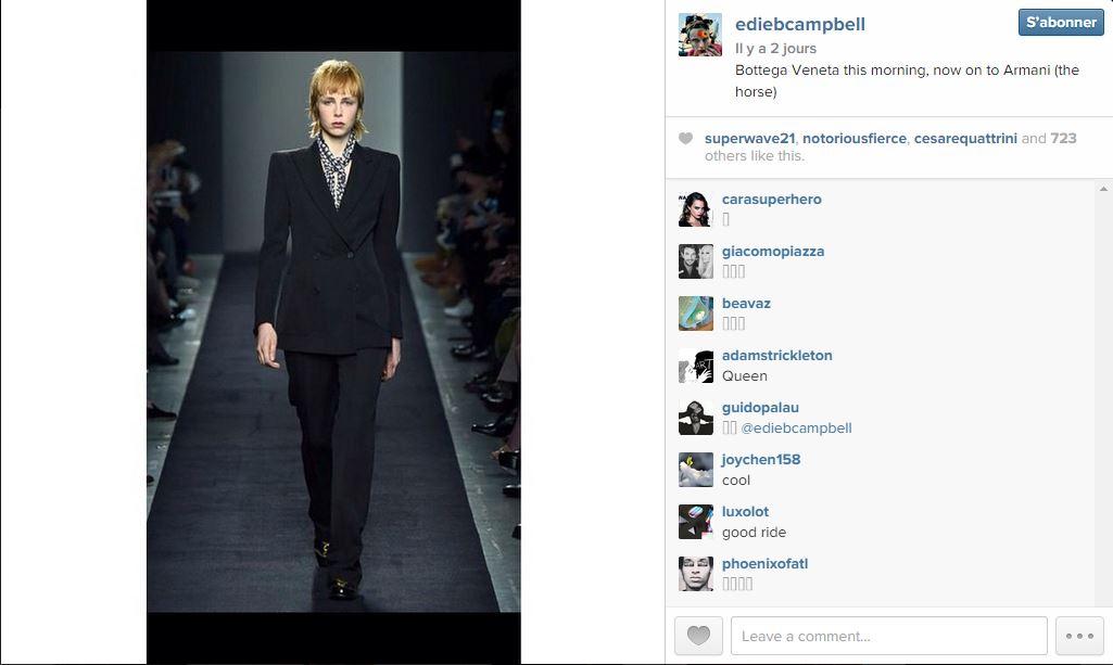 Edie campbell les 101 comptes instagram suivre pendant la fashion week elle - Qui suivre sur instagram ...