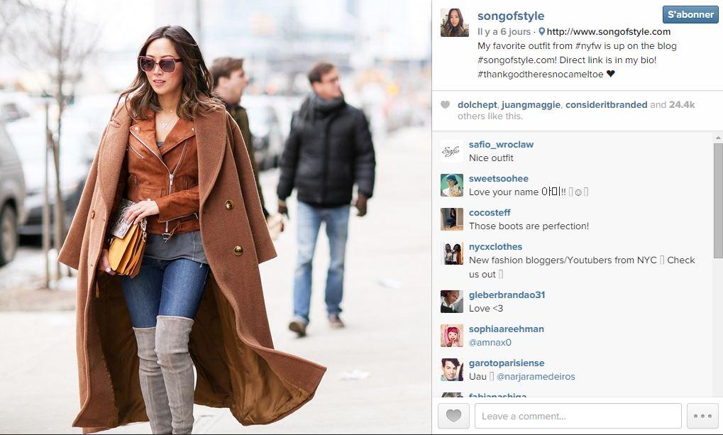 Song of style les 101 comptes instagram suivre pendant la fashion week elle - Qui suivre sur instagram ...