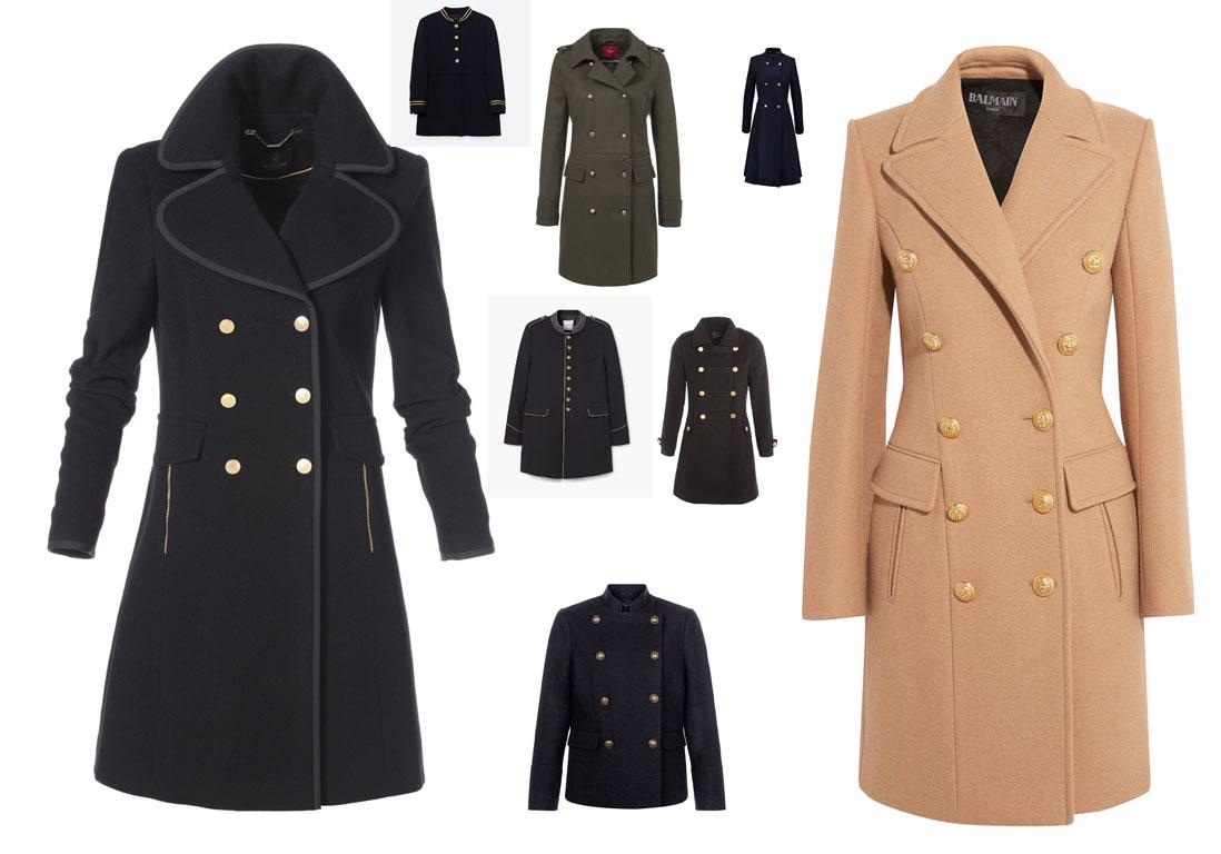 manteau officier 10 manteaux officier pour un hiver 2016 17 styl elle. Black Bedroom Furniture Sets. Home Design Ideas