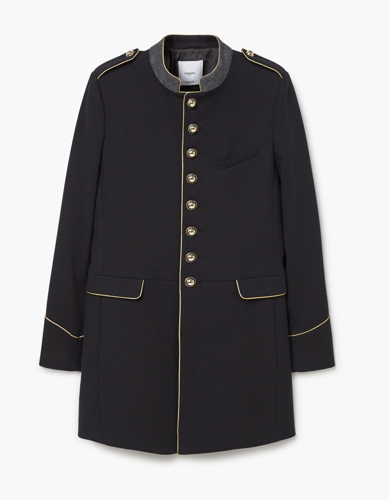 manteau officier mango 14 manteaux officier pour un hiver styl elle. Black Bedroom Furniture Sets. Home Design Ideas