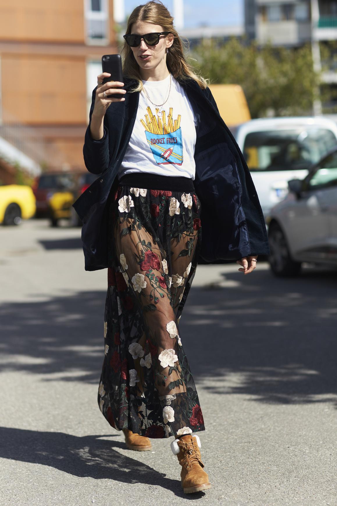 Très Que porter avec une jupe longue : nos jolis looks repérés dans la  RT59