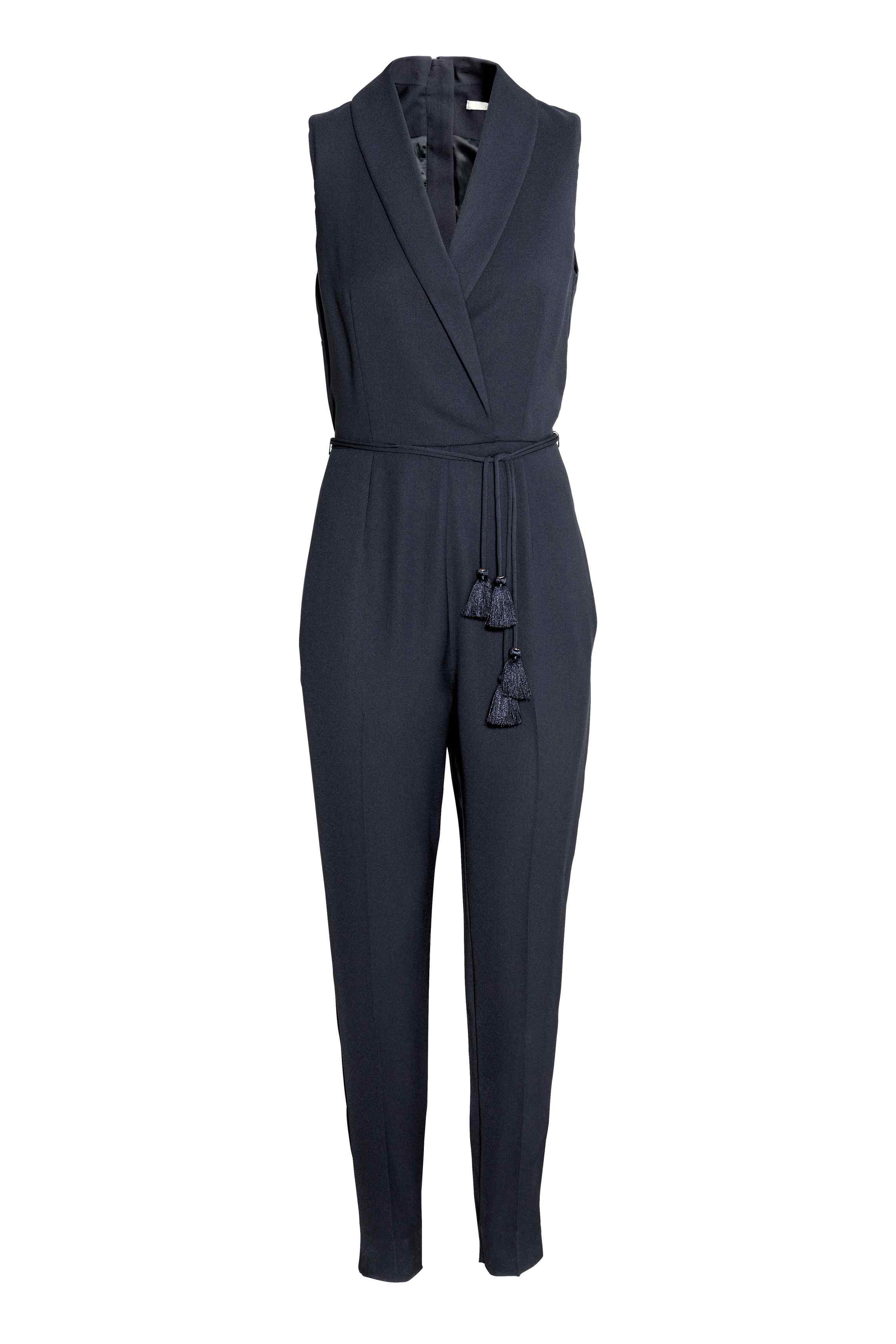 Combinaison pantalon pompons h m chic et f minine en combi pantalon elle - Combi pantalon chic ...