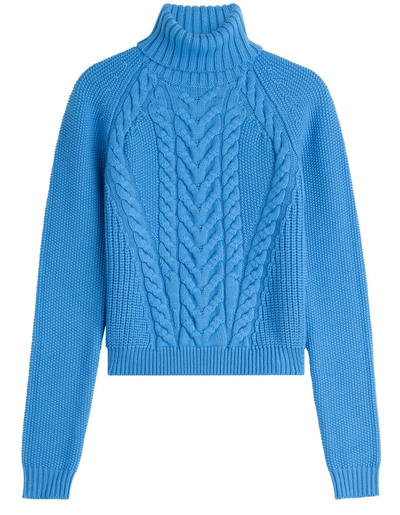 pull en laine bleu carven 30 pulls en laine pour tre au chaud tout l hiver elle. Black Bedroom Furniture Sets. Home Design Ideas
