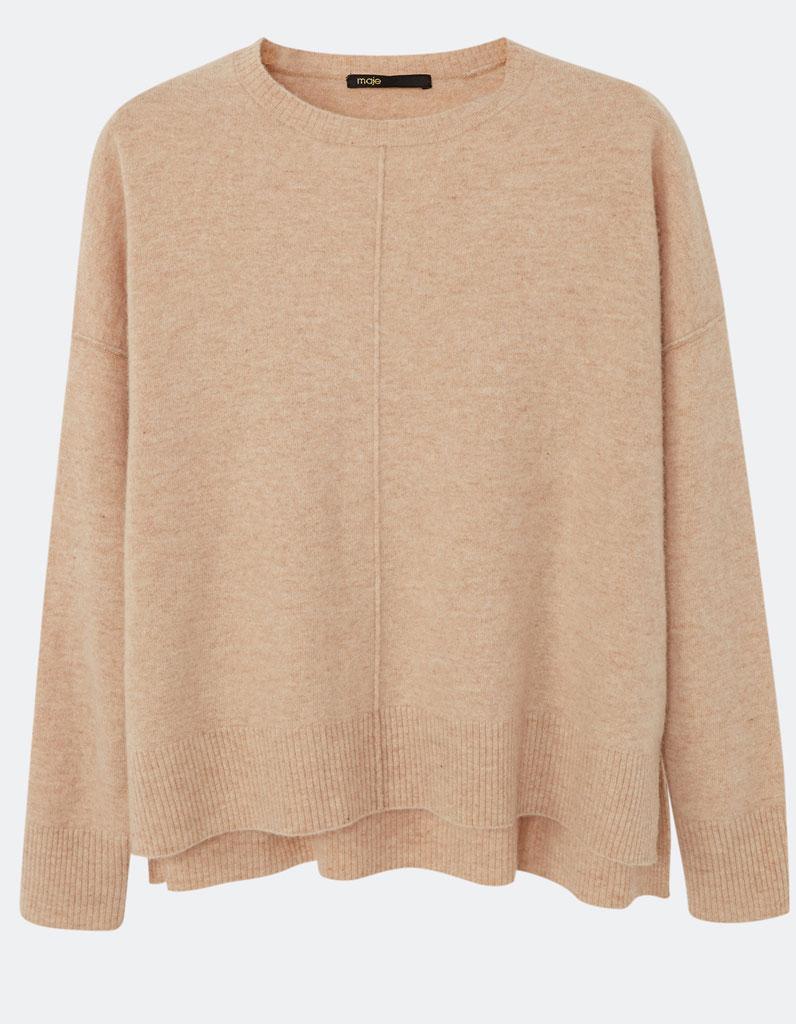 pull en laine large maje 30 pulls en laine pour tre au chaud tout l hiver elle. Black Bedroom Furniture Sets. Home Design Ideas