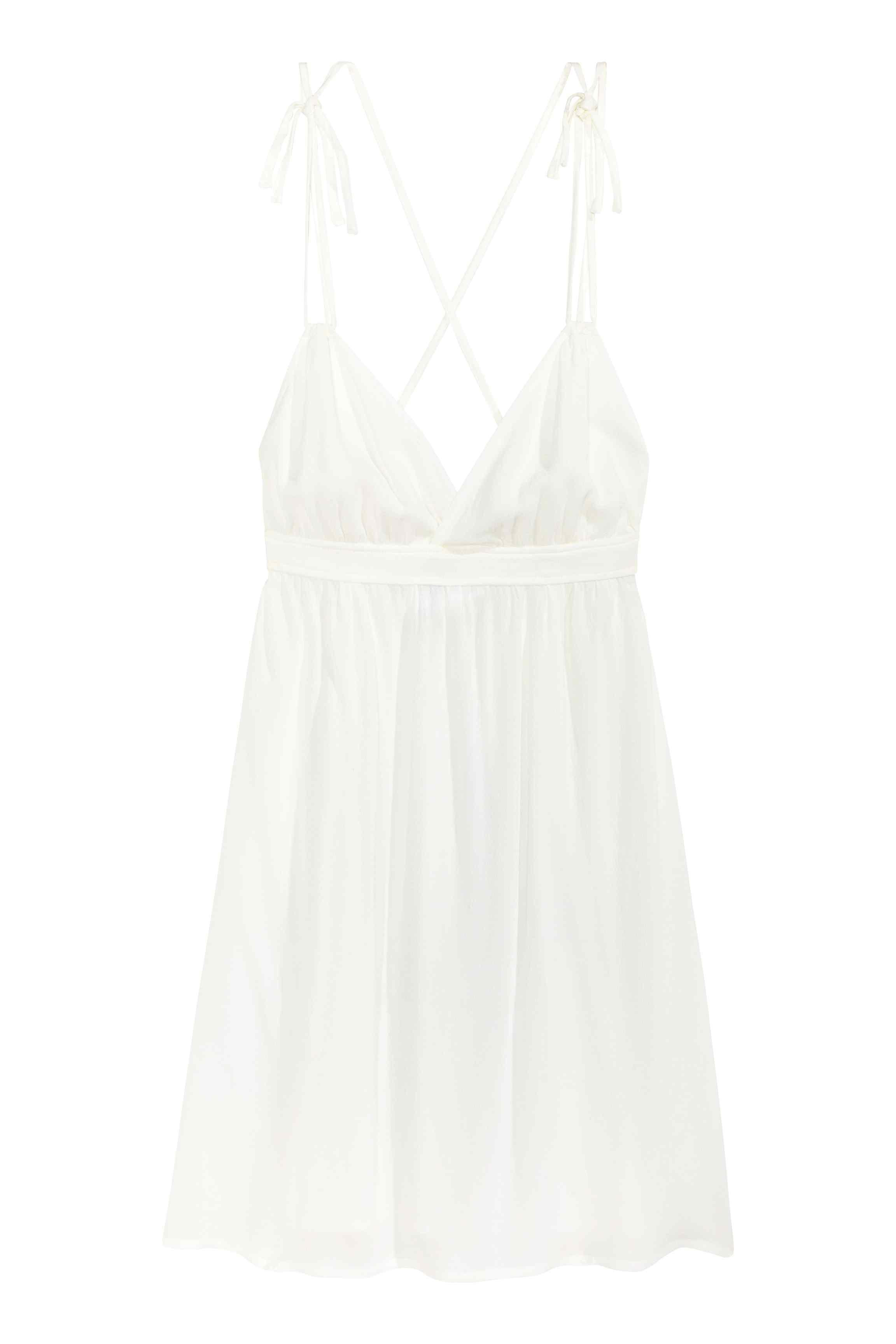 robe blanche h m une robe blanche pour un look frais elle. Black Bedroom Furniture Sets. Home Design Ideas