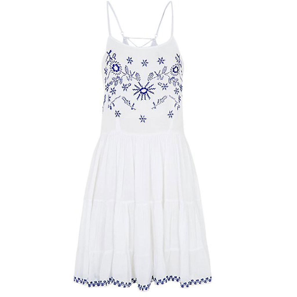 Robe de plage fines bretelles new look 50 robes de for Petites robes maxi pour mariage sur la plage
