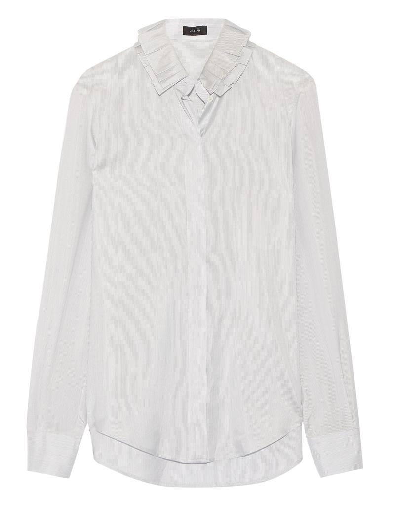 chemise femme col volant 21 chemises pour passer du bureau au resto elle. Black Bedroom Furniture Sets. Home Design Ideas