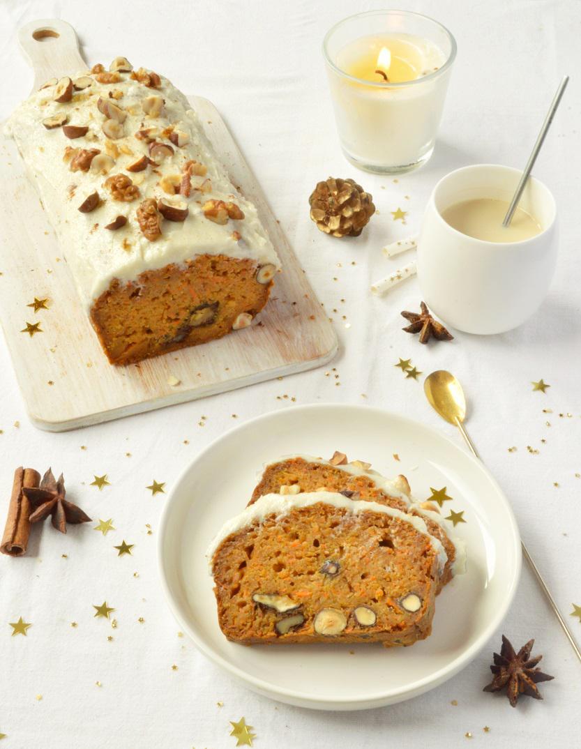 Carrot cake vegan pour 8 personnes recettes elle - Dessert de noel leger ...