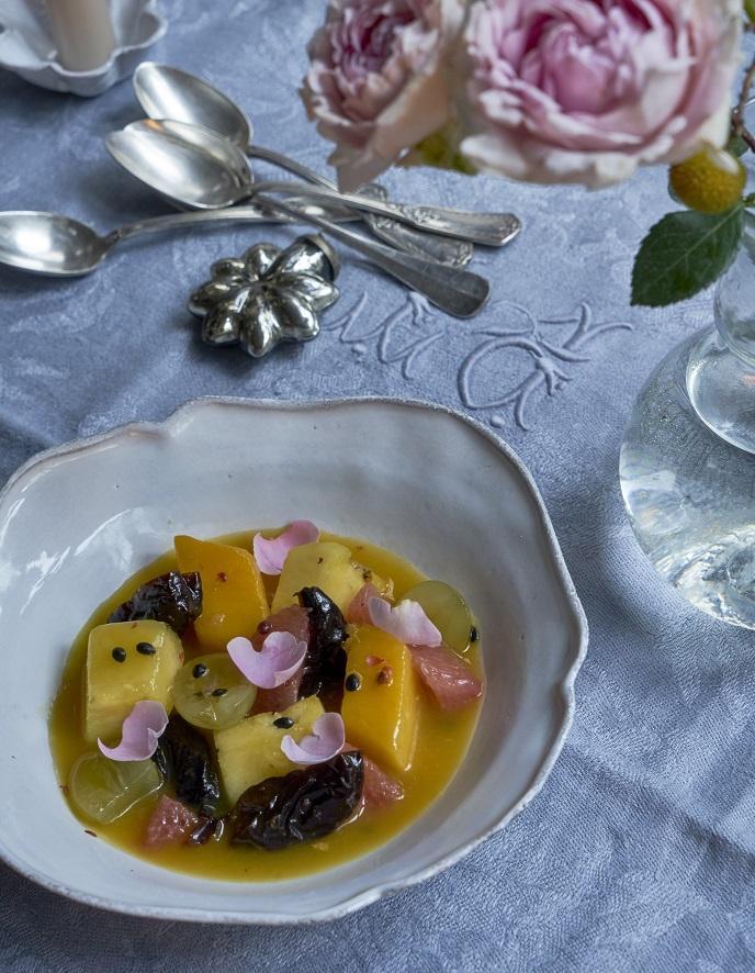 Salade d 39 agrumes et de fruits exotiques la rose pour 4 personnes recettes elle - 13 desserts de noel recettes ...