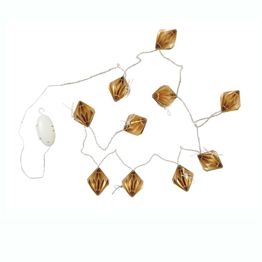 Une guirlande origami la d co de no l illumine la maison for Site americain decoration noel
