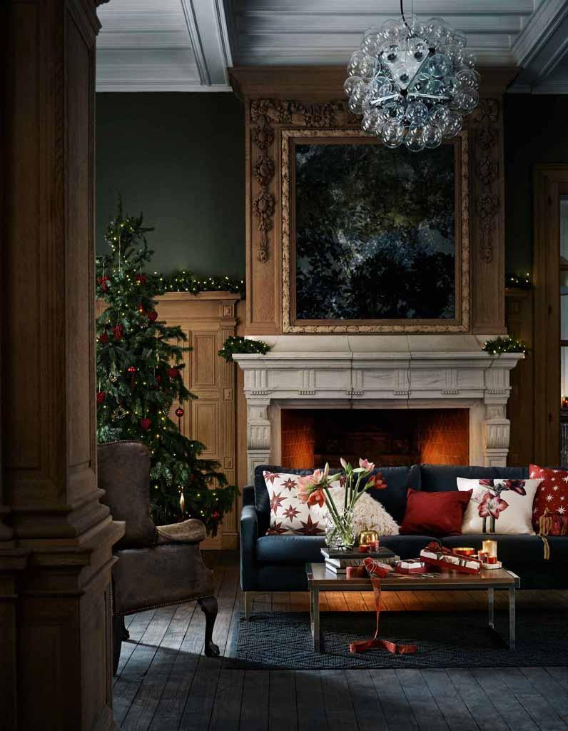 sapin de no l traditionnel rouge toutes nos id es pour un sapin de no l canon elle. Black Bedroom Furniture Sets. Home Design Ideas
