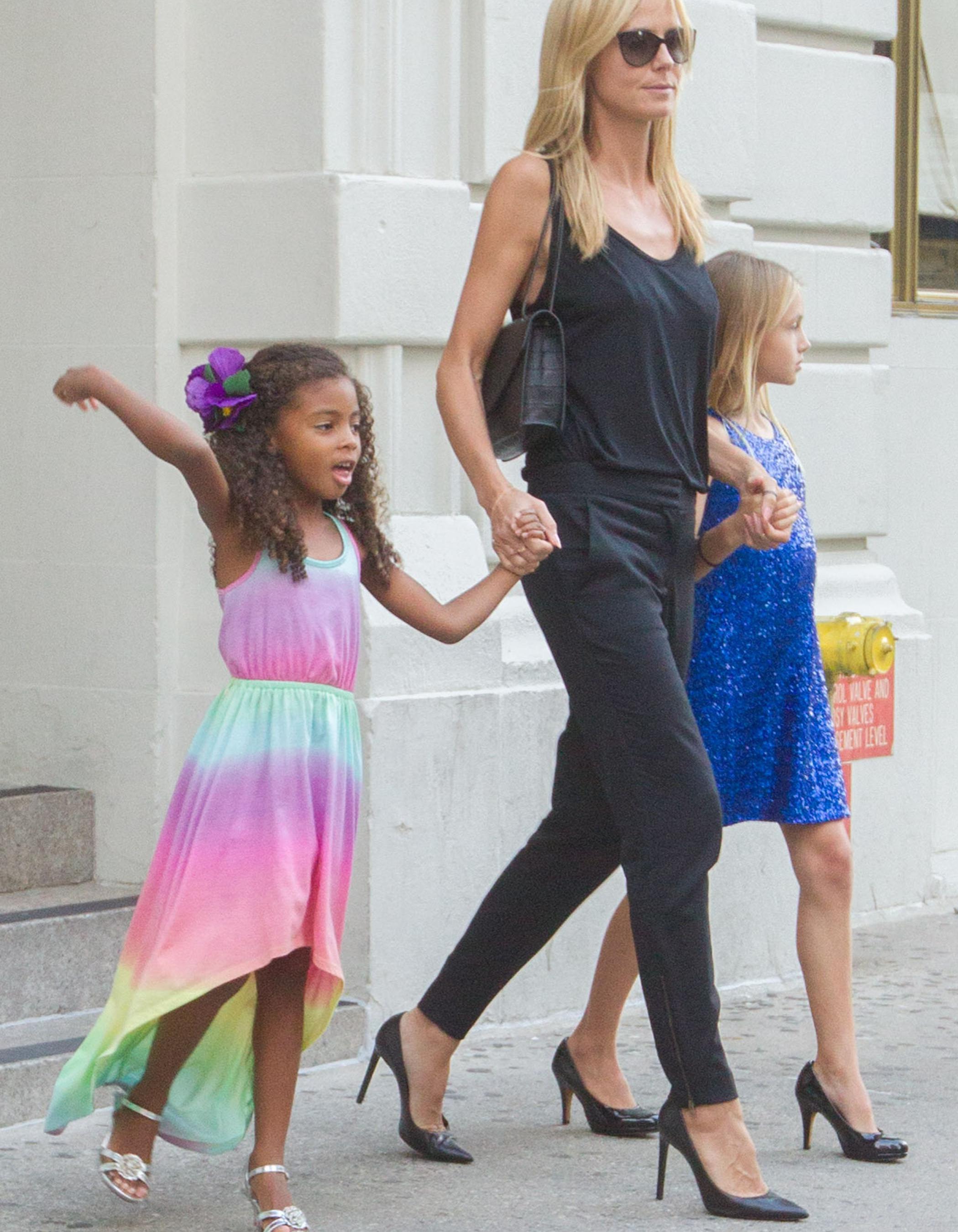 Assez Heidi Klum : ses filles portent des talons à 10 et 4 ans - Elle GQ12