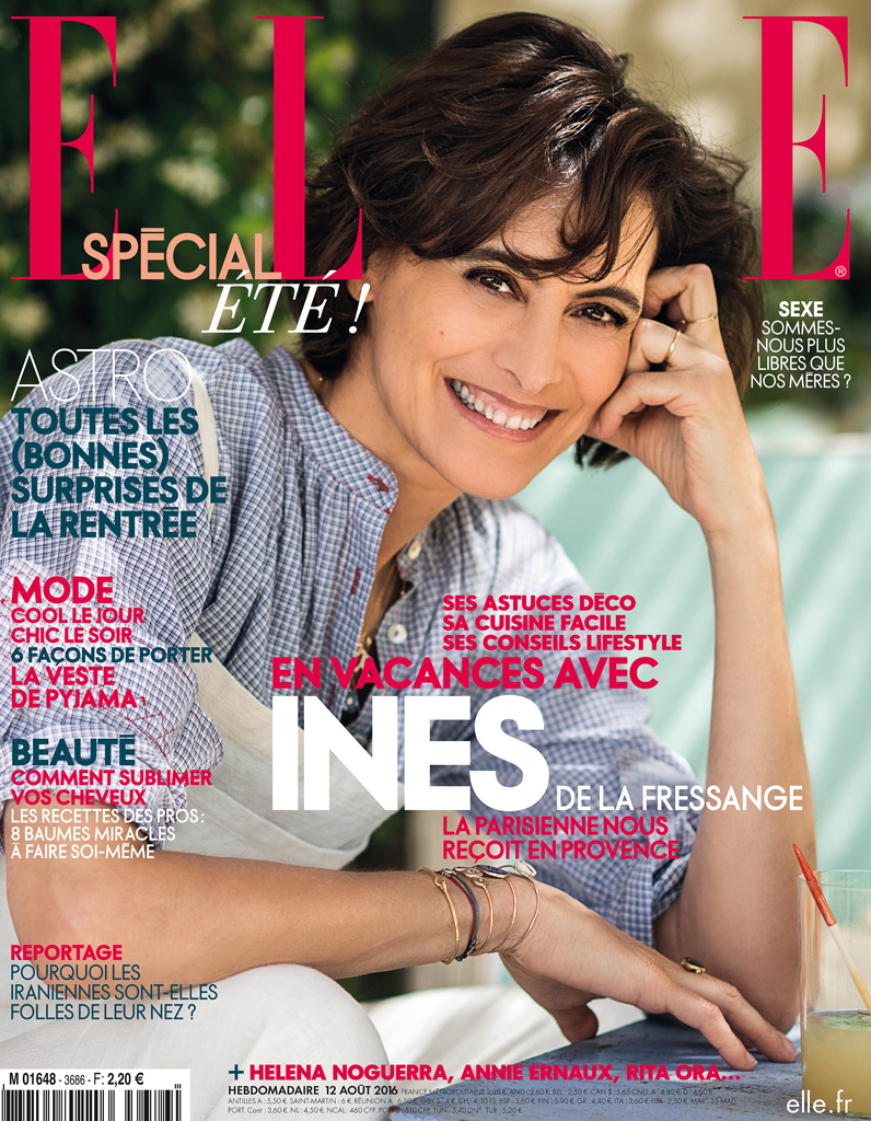 ines de la fressange en couverture de elle cette semaine elle. Black Bedroom Furniture Sets. Home Design Ideas