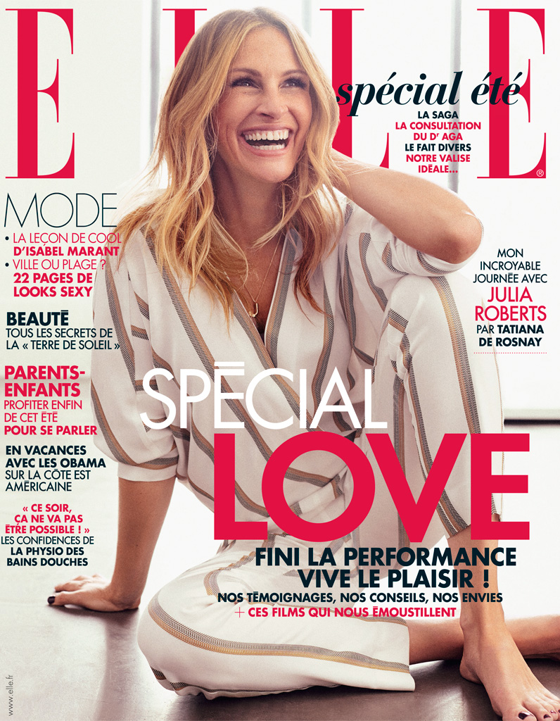 julia roberts en couverture de elle cette semaine elle. Black Bedroom Furniture Sets. Home Design Ideas