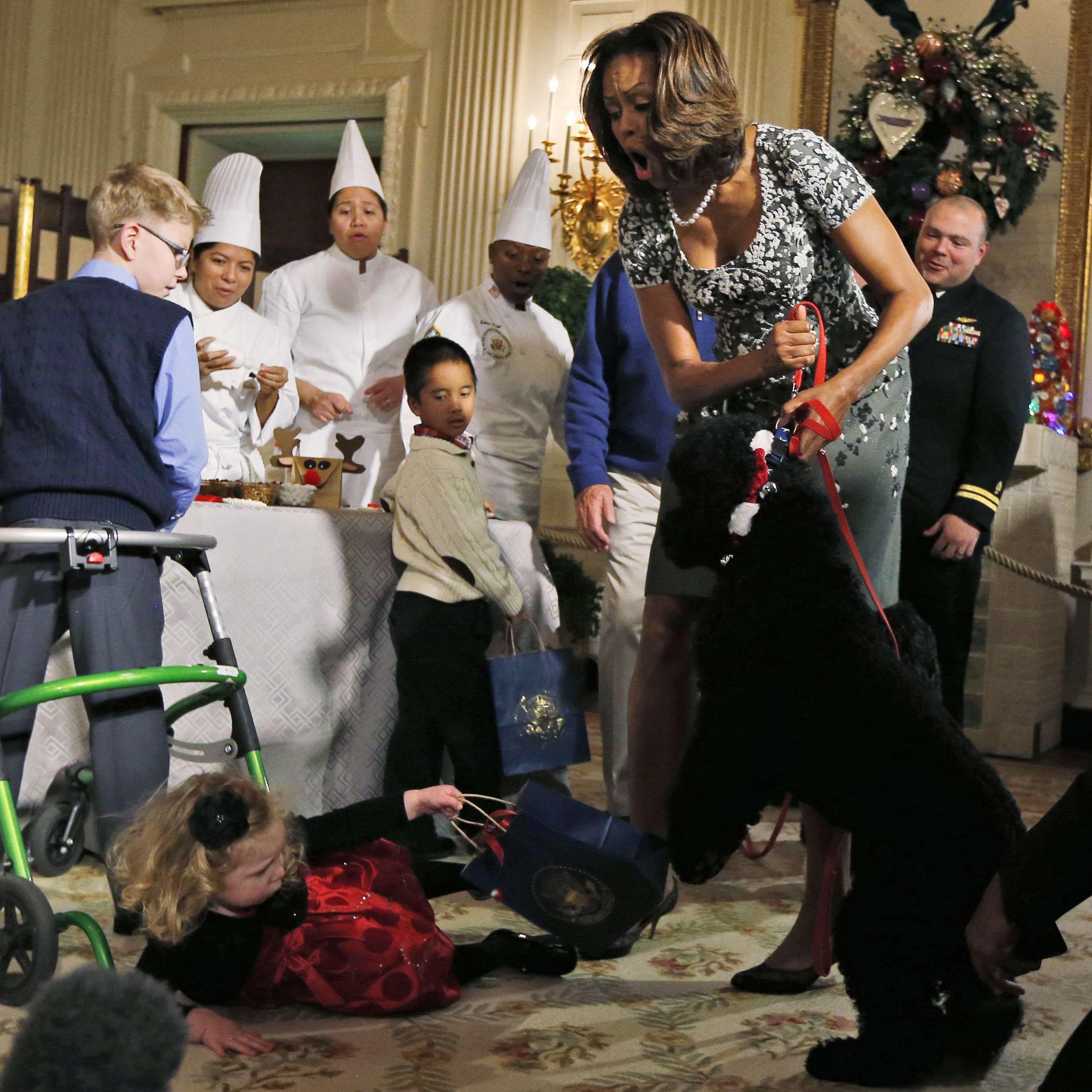 le chien des obama s attaque aux invit 233 s de la maison blanche