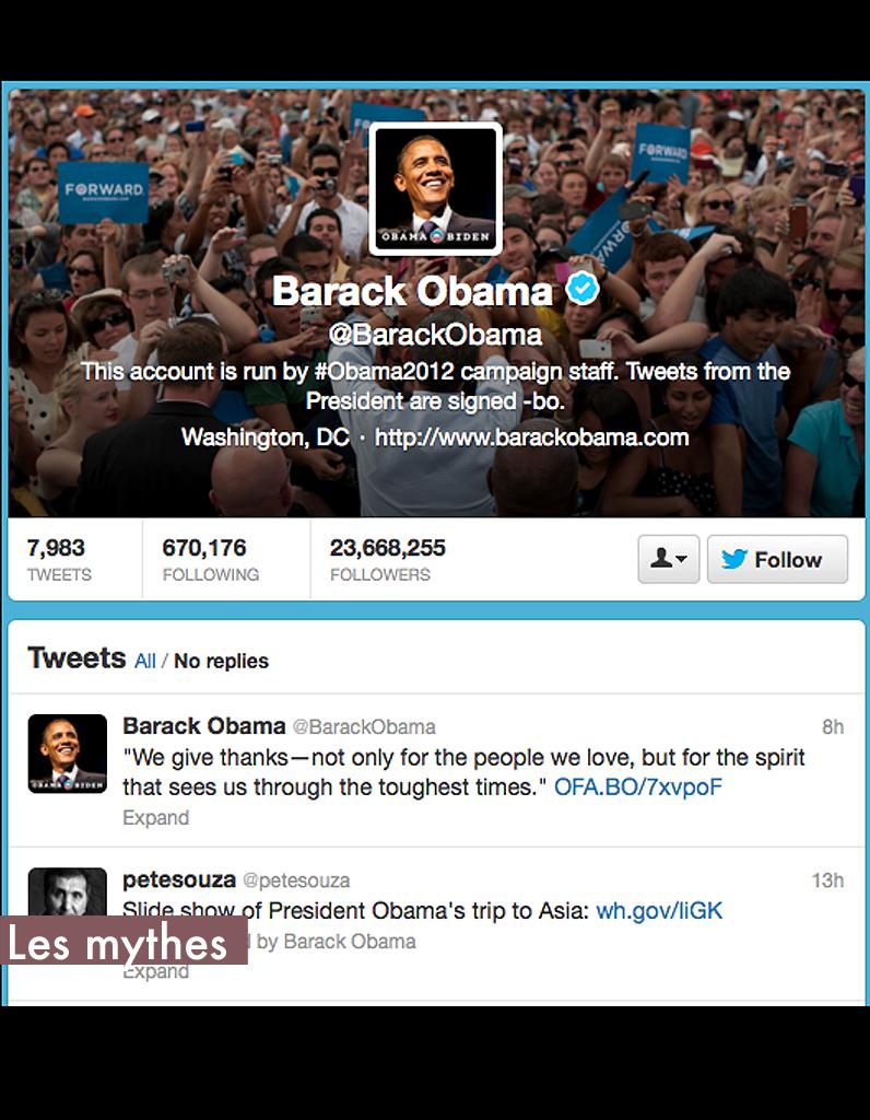 Les mythes obama qui suivre sur twitter elle - Qui suivre sur instagram ...