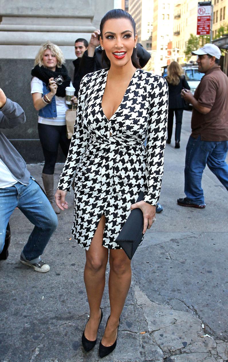 L imprim pied de poule comment kim kardashian est - Imprime pied de poule ...