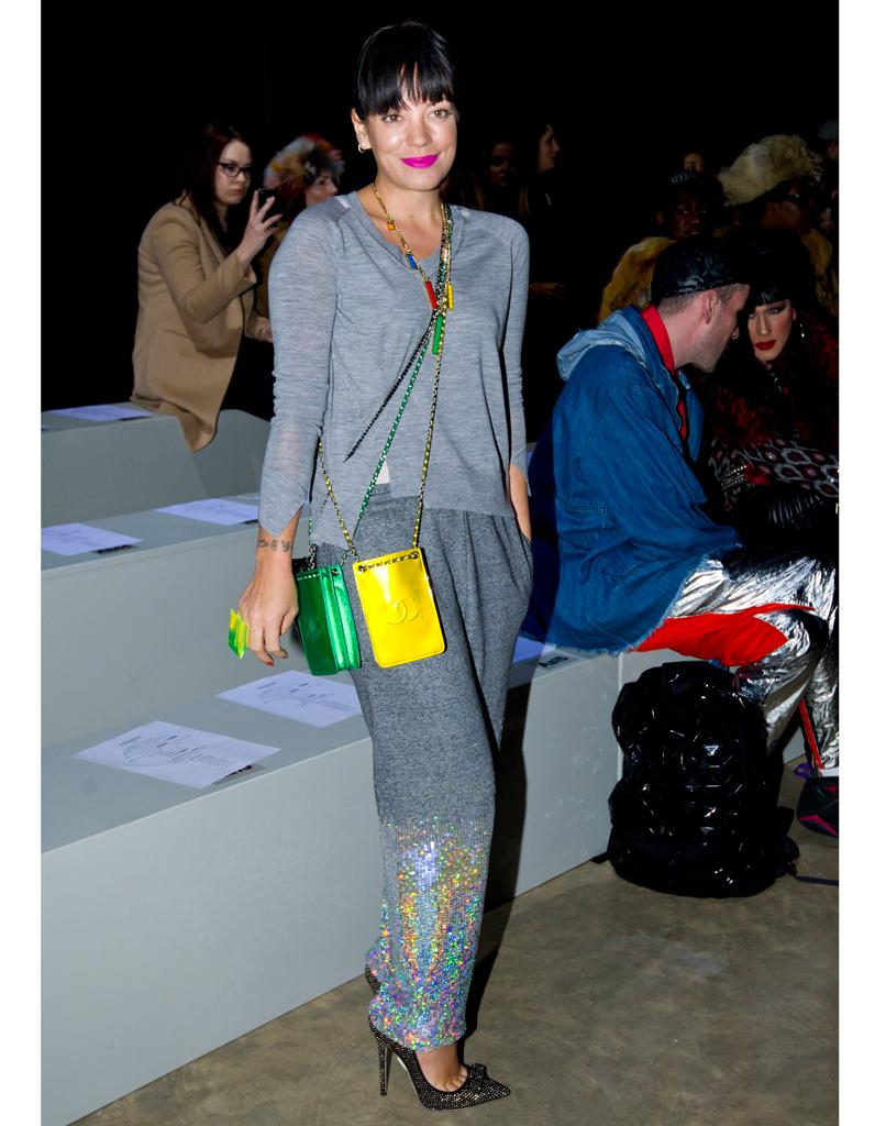 A La Fashion Week De Londres Lily Allen Son Come Back Fashion Elle