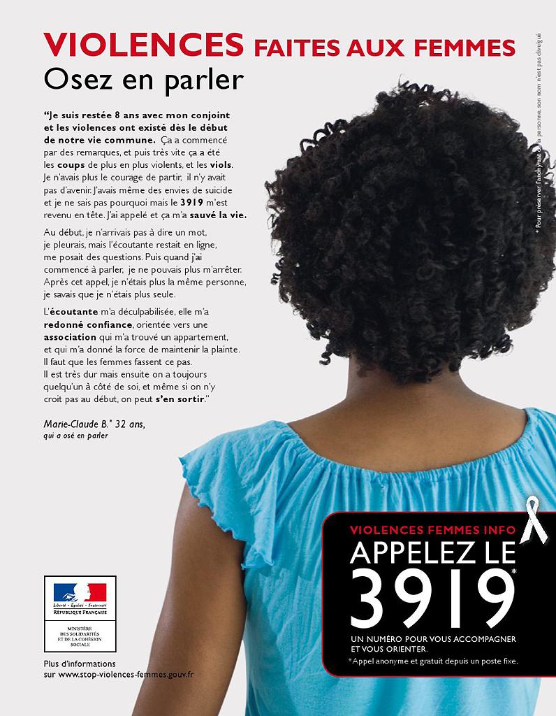osez parler de la violence 72 affiches pour d noncer les violences faites aux femmes elle. Black Bedroom Furniture Sets. Home Design Ideas
